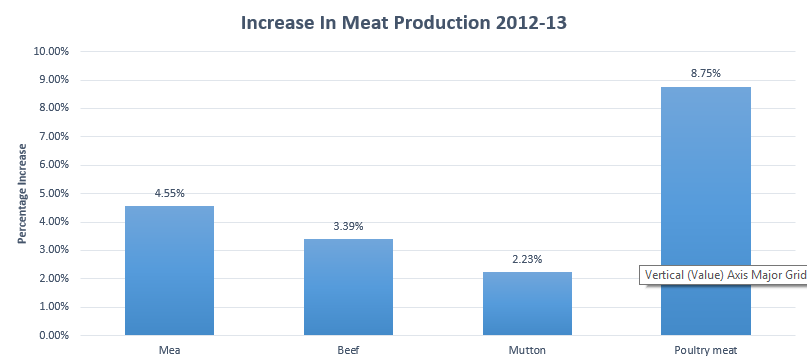 Meat Production in Pakistan 2013