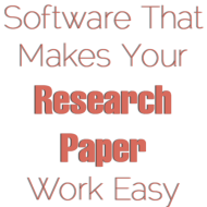 Software for writing Research Paper